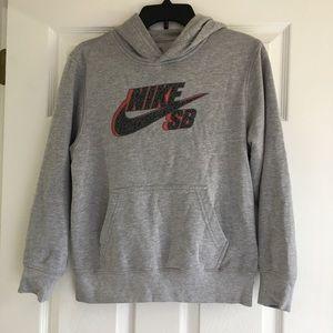 Boys Nike SB Hooded Sweatshirt SZ L, Grey
